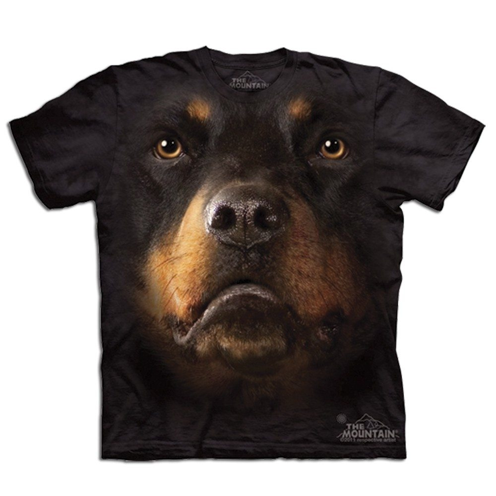Big Face dieren T-shirts - Rottweiler