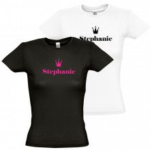 "Damen T-Shirt ""Name mit Krone"""
