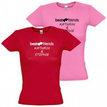 "Dames -T-Shirt ""Best friends"""