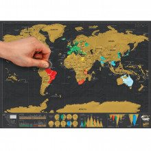 Scratch Map de luxe – reisformaat