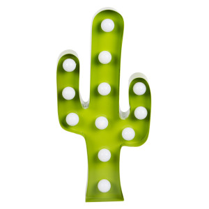 "LED-lamp ""Cactus"" aan"